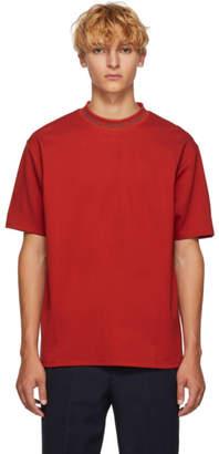 Acne Studios Red Navid Logo T-Shirt