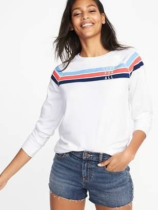 Old Navy Relaxed Vintage Fleece Sweatshirt for Women