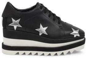 Stella McCartney Star Embroidered Sneaker Wedges