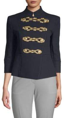 Pierre Balmain Embroidered Double-Breasted Cotton Jacket