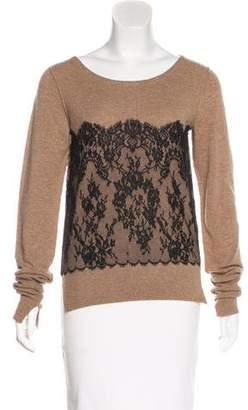 Zhor & Nema Lace-Trimmed Wool Sweater w/ Tags