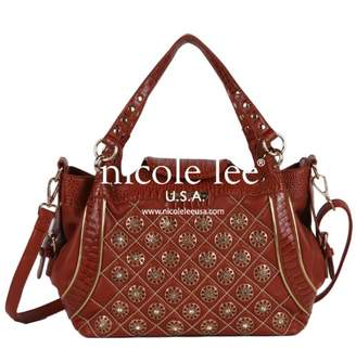 Nicole Lee Chrissy Floral Quilted Satchel Bag