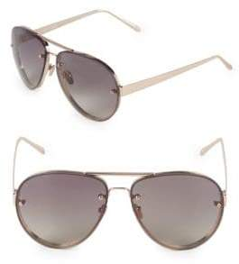 Linda Farrow Luxe 62MM Aviator Sunglasses