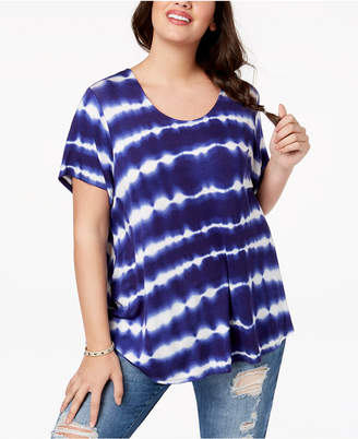 Eyeshadow Trendy Plus Size Tie-Dyed T-Shirt