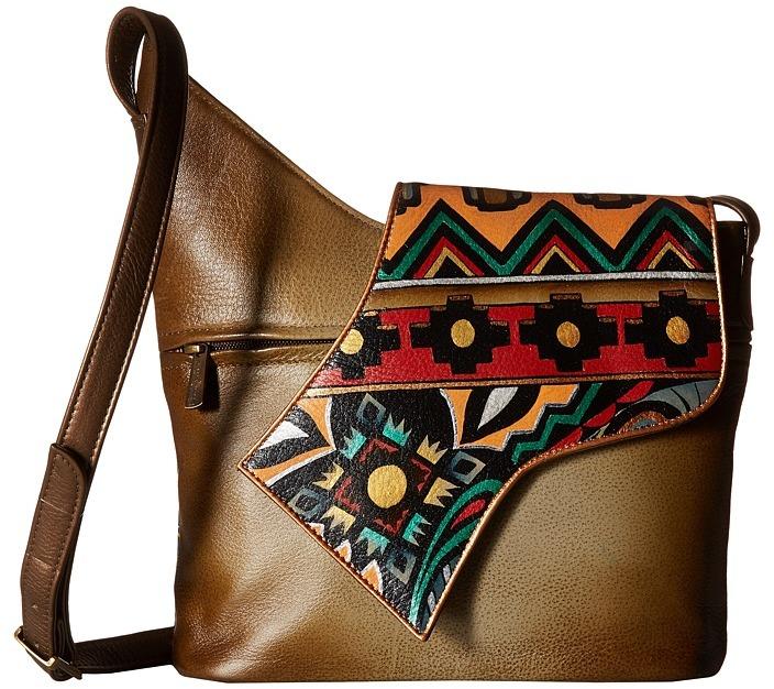 Anuschka 257 Small Asymmetric Flap Bag Handbags