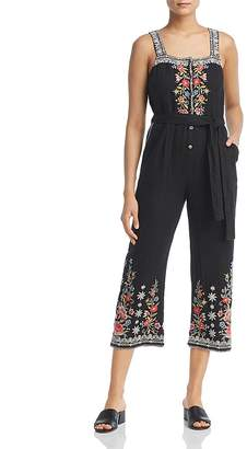 Johnny Was Collection Hazelton Embroidered Crop Jumpsuit