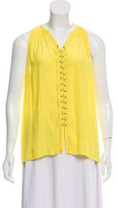 Ramy Brook Sleeveless Tie-Up Top