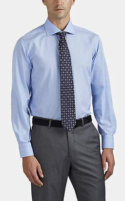 Barneys New York MEN'S GLEN PLAID COTTON DRESS SHIRT - LT. BLUE SIZE 14.5 R