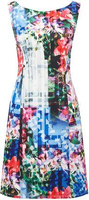 Adrianna Papell Printed scuba dress