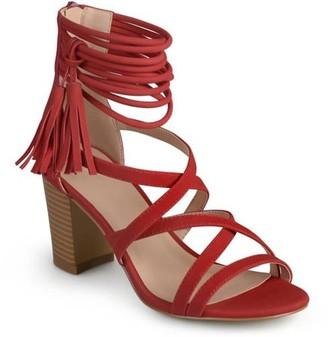 Co Brinley Womens Tassel Strappy High Heels