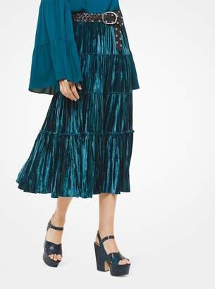 MICHAEL Michael Kors Tiered Velvet Skirt