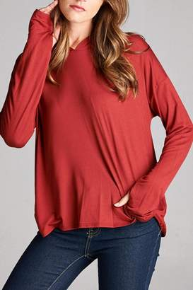 Honey Punch Hooded Long Sleeve Top $42.50 thestylecure.com