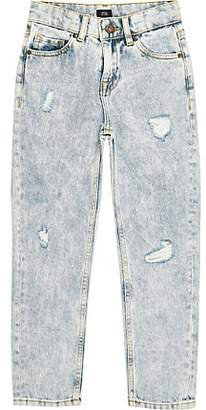 River Island Boys light blue Bobby loose fit jeans