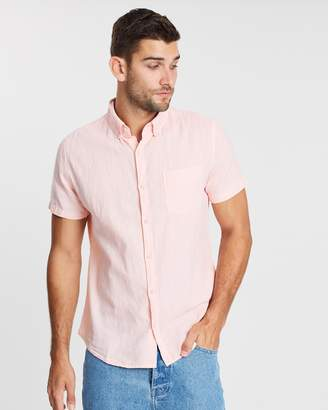 Cotton On Premium Linen Cotton Short Sleeve Shirt