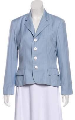 Ralph Lauren Wool Pinstriped Blazer