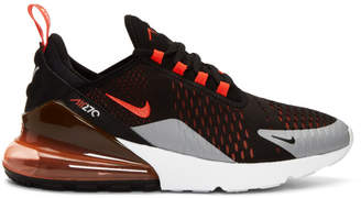 Nike Black and Red Air Max 270 Sneakers