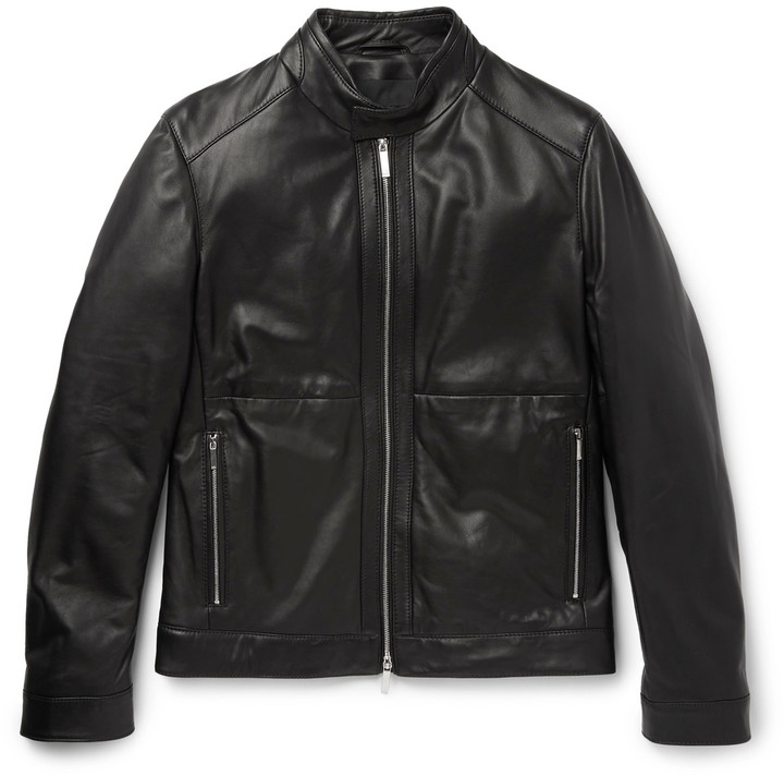 Hugo BossHugo Boss Nortilo Slim-Fit Leather Jacket