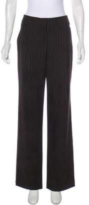 Magaschoni Pinstripe Mid-Rise Pants