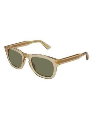 Gucci Polarized Square Translucent Acetate Sunglasses