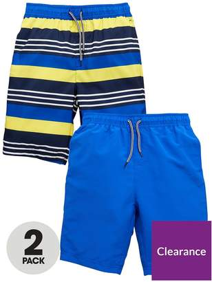 Very Boys 2 Pack Of Board Shorts - Yellow/Blue