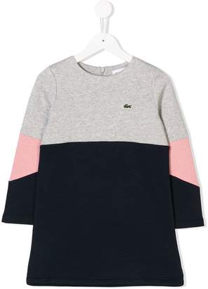 Lacoste Kids colour block sweat dress