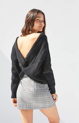 La Hearts Cross Back Pullover Sweater