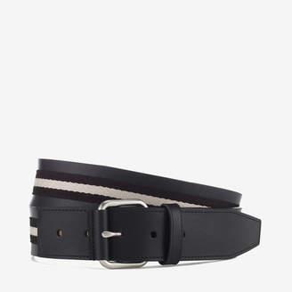 Bally Tianis Multicolor, Men's Trainspotting stripe belt in black & beige