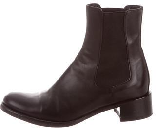 pradaPrada Round-Toe Ankle Boots