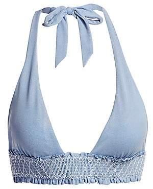 Heidi Klein Women's Smocked Halter Bikini Top