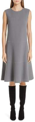 Lafayette 148 New York Colby Chain Trim Fit & Flare Dress