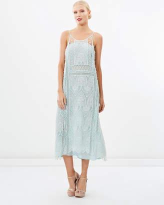 Embroidered Bohemian Maxi Dress