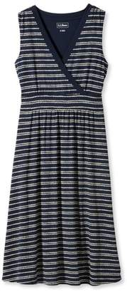 L.L. Bean L.L.Bean Summer Knit Dress, Sleeveless Pebbles Stripe Print