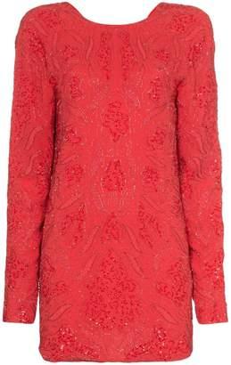 Rotate sequin embellished silk mini dress