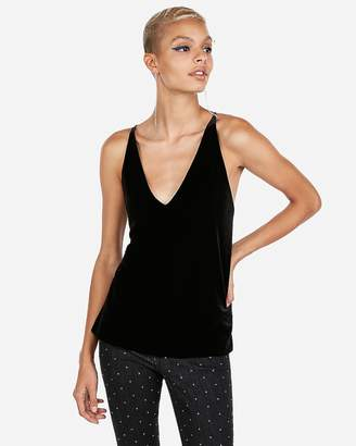 Express Velvet Surplice Back Cami