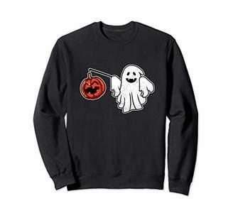 Ghost Pumpkin Costume Sweatshirt Halloween Jack-O-Lantern