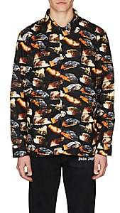 Palm Angels Men's Burning-Cars Coach's Jacket - Black