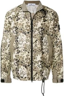 Stone Island alligator camouflage bomber jacket
