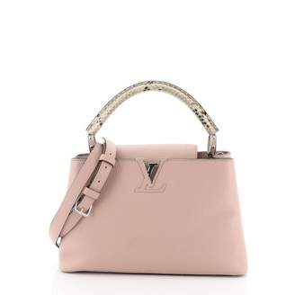 Louis Vuitton Capucines Pink Exotic leathers Handbags