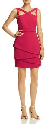 BCBGMAXAZRIA Strap-Detail Crepe Dress