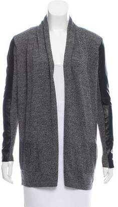 Theory Wool & Leather Cardigan