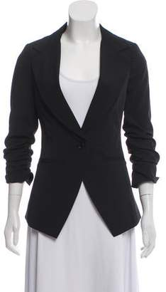 Elizabeth and James Structured Ruched-Accented Blazer