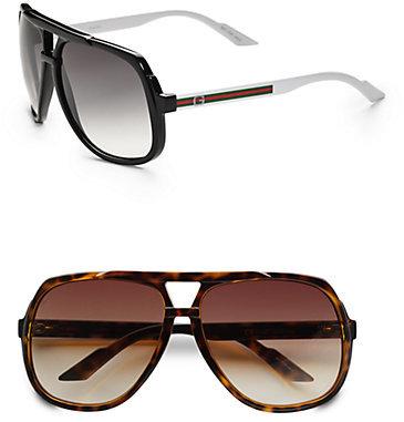 Gucci Plastic Aviator Sunglasses