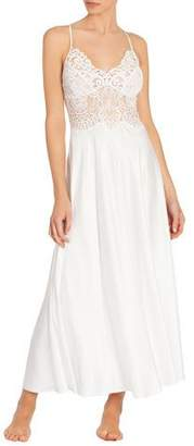 Jonquil Jasmine Lace-Trim Long Nightgown