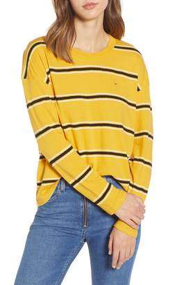 Tommy Jeans Stripe Crepe Knit Tee