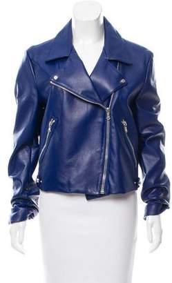Sally LaPointe Leather Biker Jacket