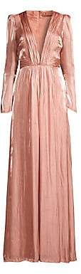 Rachel Zoe Women's Rosalie Deep V-Neck Gown - Size 0