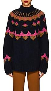 A.L.C. Women's Folkloric Wool-Blend Oversized Sweater-Navy