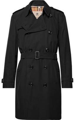 Burberry Kensington Cotton-Gabardine Trench Coat - Men - Black