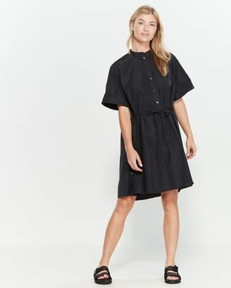 Jil Sander Navy Black Short Sleeve Shirtdress