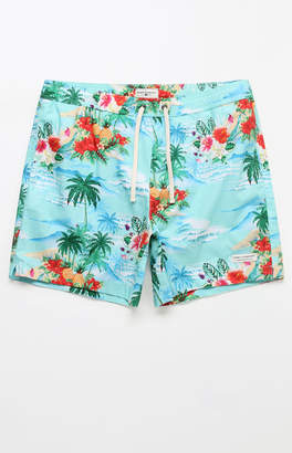 "Modern Amusement Isle Of Fun 17"" Swim Trunks"
